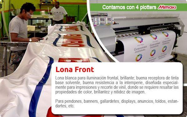 Impresión para exterior de Lona Front