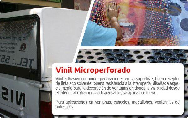 Impresión de Vinil microperforado para exterior