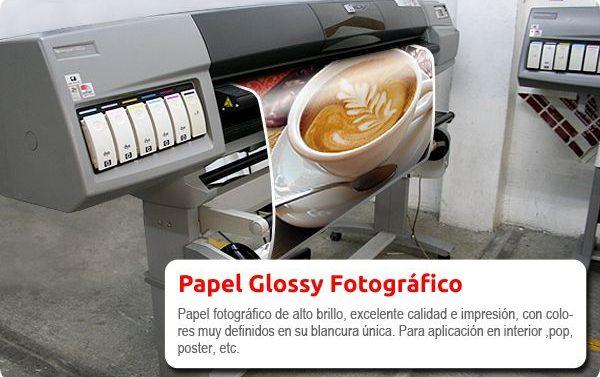 Papel Glossy Fotográfico