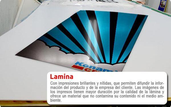 Impresión de rígidos sobre Lámina