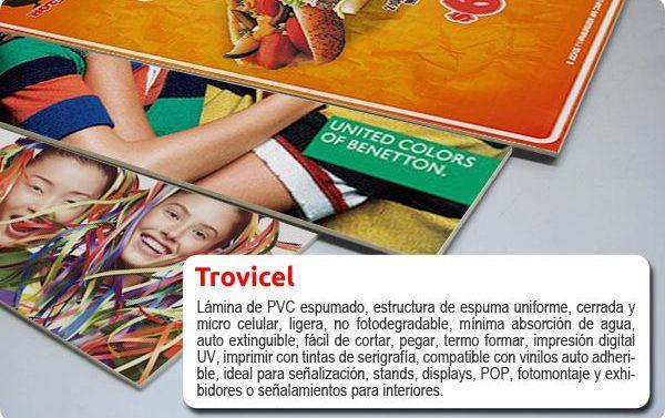 Impresión en rígidos sobre Trovicel